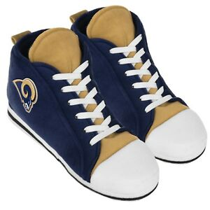 Los Angeles Rams High Top Sneaker SLIPPERS New - FREE U.S.A. SHIPPING