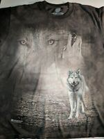 Wolf  T-Shirt by The Mountain. Wild Wolf Wolves Brown Size S