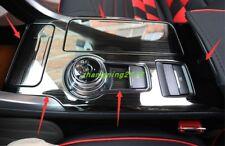 Black titanium Gear Shift Frame Cover Trim For Ford Fusion Mondeo 2017-2018