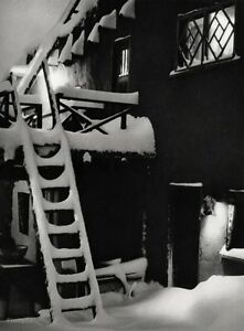 1940s WITTER BYNNER HOUSE SNOW Poetry Gay Winter Santa Fe New Mexico ANSEL ADAMS
