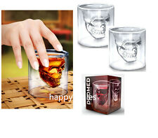 New Crystal Skull Head Whiskey Shot Glass Creative Designer Doomed Party doom