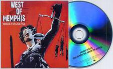 West Of Memphis Voices For Justice UK 15tk promo test CD Bob Dylan Eddie Vedder