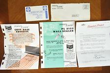 VTG 1960s Paper Ephemera Perma Lastic Products Co Salesman Advertising [a50]