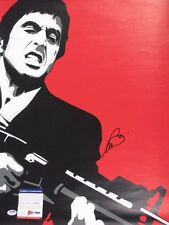 "AL PACINO *FULL SIGNATURE* Hand Signed SCARFACE 18""x 22"" CANVAS + PSA DNA COA"