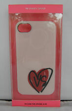 New In Box Victoria Secret's Pink Case For iPhone 4/4S Heart With VS