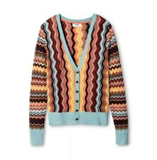 MISSONI for Target Size XS Colore Zig Zag Long Sleeve V-Neck Button Cardigan NWT