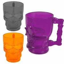 Halloween Plastic Skulls Tankard Drinking Cup Mug Horror Party Props Table Décor