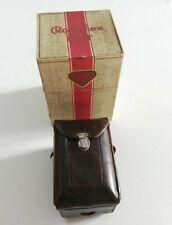 1931 Bebé Rolleiflex 4x4,K1 Mod 412 Tessar 6cm f2.8, En Caja, Rob Blanco Collection