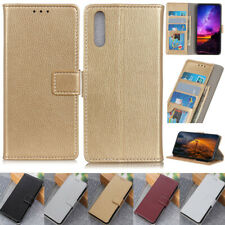 Litchi Wallet Leather Flip Cover Case For Sony L4 1 II 10 II 2 5 10 Plus L3 XZ3