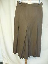 "Ladies Skirt Jacques Vert brown wool, UK12, waist 26"", length 31"", pleats, 7857"