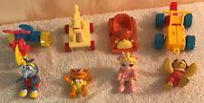 Lot 4 McDonalds Muppet Babies Pvc Figure Birdie Piggy Gonzo Fozzie + Vehicles