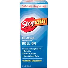 New Stopain Extra Strength Pain Relieving Roll-On 3 Fl Oz.