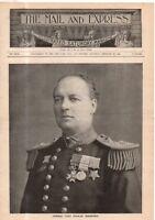 1899 Mail & Express February 25 - NYC snow storm; New Battleship Maine;Bernards