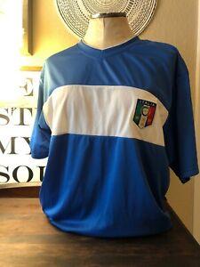Soccer Futbol Jersey Shirt Size Large FIGC Italia