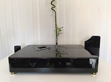 PIANO BLACK LENCO PTP6 TWIN TONEARM  Plinth Zarge (WITHOUT PTP PLATE!) in stock!
