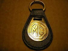 MG KEY RING LEATHER SOLID BRASS FOB + 1 FREE