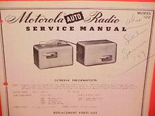 1950 MOTOROLA AUTO CAR AM RADIO FACTORY SERVICE SHOP REPAIR MANUAL MODEL 700