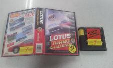 Lotus Turbo Challenge SEGA Genesis Game Boxed PAL