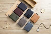 Genuine Leather Wallet RFID Blocking Credit ID Card Holder Pocket Zip Coin Purse