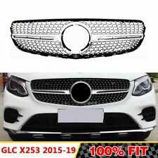 Front Racing Diamond Grills Billet Bumper Grille Cover For Mercedes X253 GLC