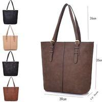 Women's Large Designer Style PU Leather Shopper Ladies HandBag