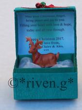 REINDEER PERSONALISED MERRY CHRISTMAS CARD@HOLLY BELLS FESTIVE PRAYER Verse Gift