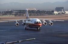 Pacific Southwest Airlines PSA BAe 146 old colors 1985 - Original 35mm slide