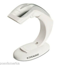 Datalogic Heron HD3100 POS Barcode Scanner Retail USB Kit White Stand Cable NEW