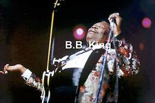 B.B KING BLUES JAZZ SINGER ON STAGE CONCERT TOUR PHOTO