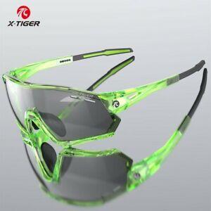 X-TIGER polarized mens cycling glasses green Bike driving sport fishing eyewear