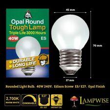 Bell 01801 40w 240v Es/e27 Opal Soft White Golf Ball Round Bulb