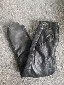 JTS Womens Plain Leather Leather Trouser Jean Black Size 12 Short