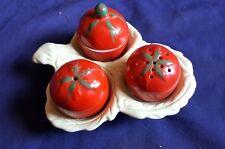 Rare Three Piece Carlton Ware Tomato Cruet Set Australian Design