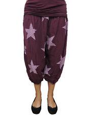Kurze Haremshose Grö�Ÿe 44 46 48 50 52 54 �œbergrö�Ÿe Pumphose Sommerhose Sterne 47