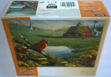RoseArt Wild Wings FARMLAND VISITOR 750 Piece 18x26 Puzzle NEW Sealed USA Made