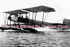 DO 54 - British Navy Hydroplane At Weymouth, Dorset 1912 - 6x4 Photo