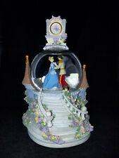 Disney Cinderella Snowglobe So This is Love Clock Light Up Snow Globe With Tag