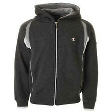 Champion Fleece Full Zip Hoody Sweatshirt Charcoal Grey 100% Authentic