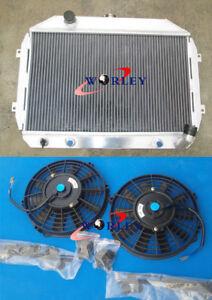Aluminum Radiator For Nissan Datsun 240Z 260Z FAIRLADY Z 1970-1975 71 74 + FANS