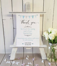Personalised Wedding cards and gifts sign bunting style