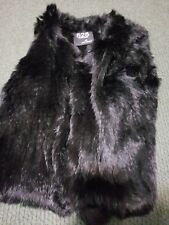 Euc 525 America Black rabbit fur Vest medium
