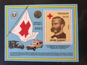 Paraguay 1978 Block Rotes Kreuz Henri Dunant Nobelpreis Frieden 1901 MNH