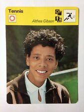 CARTE EDITIONS RENCONTRE 1977 / TENNIS - ALTHEA GIBSON