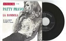 """PATTY PRAVO - LA BAMBOLA -  7""""/45 EP PORTUGAL CHANSON POP 1968 RARE"""