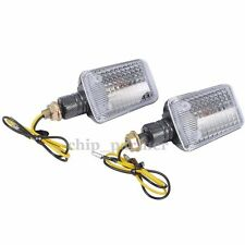 2X Motorcycle Carbon Bulb Blinker Turn Signal Amber Indicators Lights Clear Lens