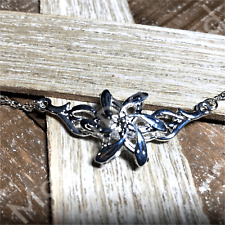 Lord of the Rings Elven Galadriel Crystal Pendant Flower Necklace Cubic Zirconia