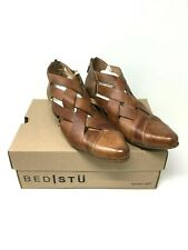 New $199  Bed Stu Brittany Tan Dip Dye Rustic Leather Booties Size:9.5
