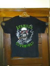 (W) Avenged Sevenfold black Large t-shirt, American heavy metal band see pics