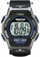 "Timex T5K198, ""Ironman Triathlon"" 30-Lap Nylon Watch, Shock, Indiglo, Alarm"