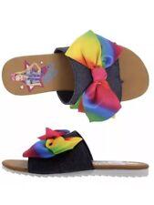 JoJo Siwa Rainbow 🌈 Bow Shoes Slides Sandals Girls Size 4